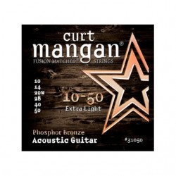 Curt Mangan Guitarra Acústica 10-50 Extra Light Phosphor Bronze