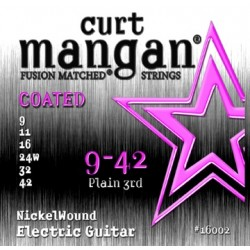 Curt Mangan 9-42 Nickel Wound COATED